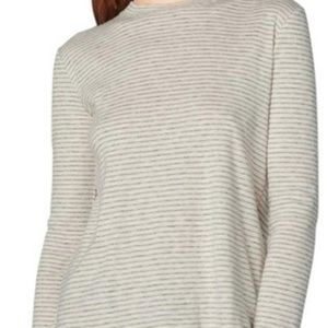 Derek Lam 10 Crosby Cream Striped Long Sleeve XS
